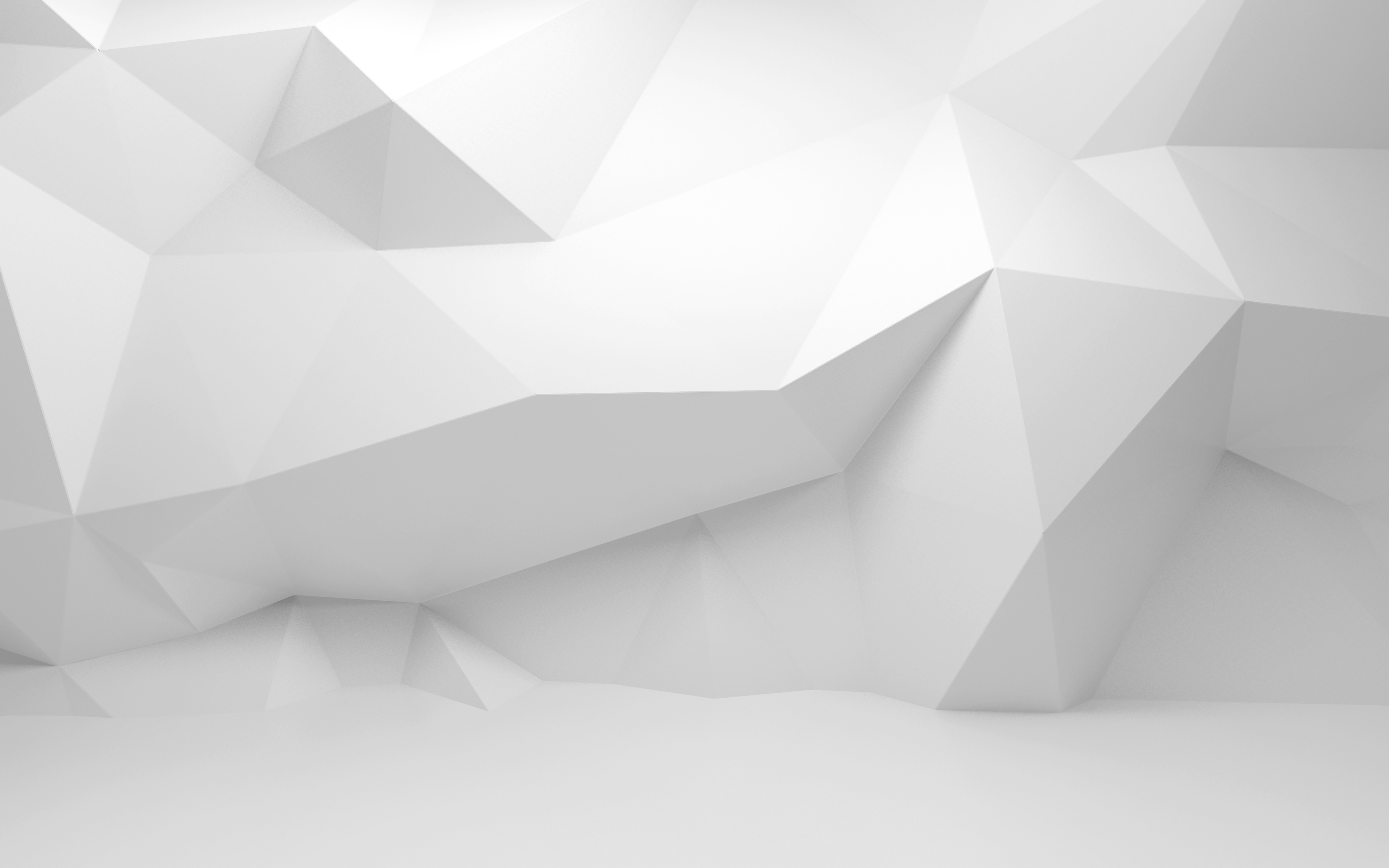 Abstract white 3d interior with polygonal pattern on the for White 3d wallpaper for walls